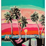 80'S Fall Palm Trees At Sunset 2 GG